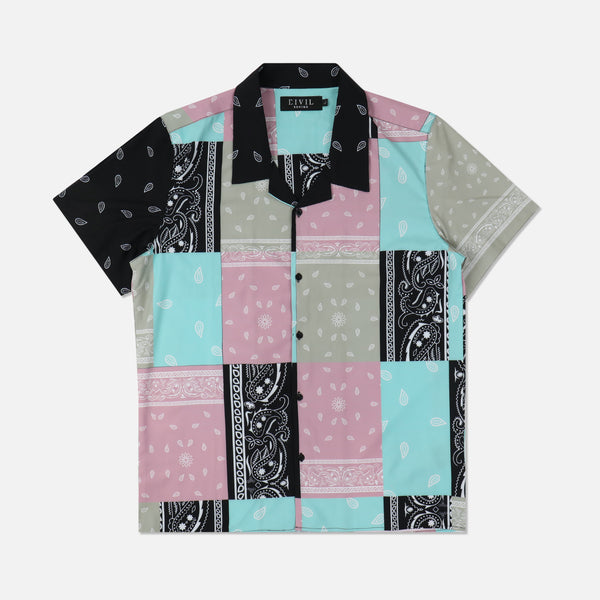 Wild West SS Camp Button Up in Multi