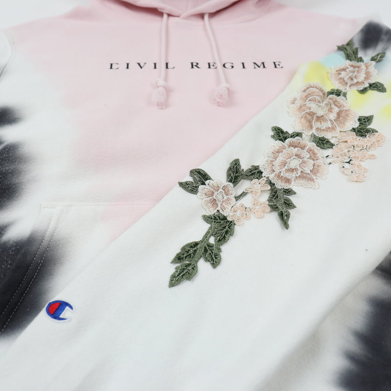 Champion Blanco Roses Hoodie in V Wash Pink