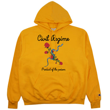 Poison Champion Hoodie in Yellow