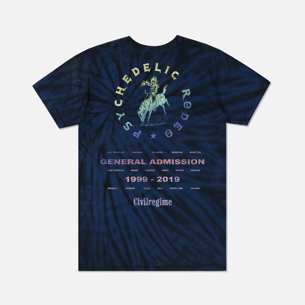 Psychedelic Rodeo Tee in Midnight Spiral