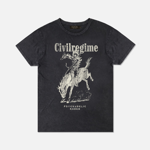 Psychedelic Rodeo Tee in Vintage Black