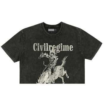 Psychedelic Rodeo (Crop) Tee in Vintage Black