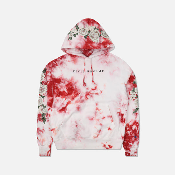 Champion Blanco Roses Hoodie in Crystal Red