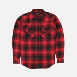 Wild West Flannel in Black/Red