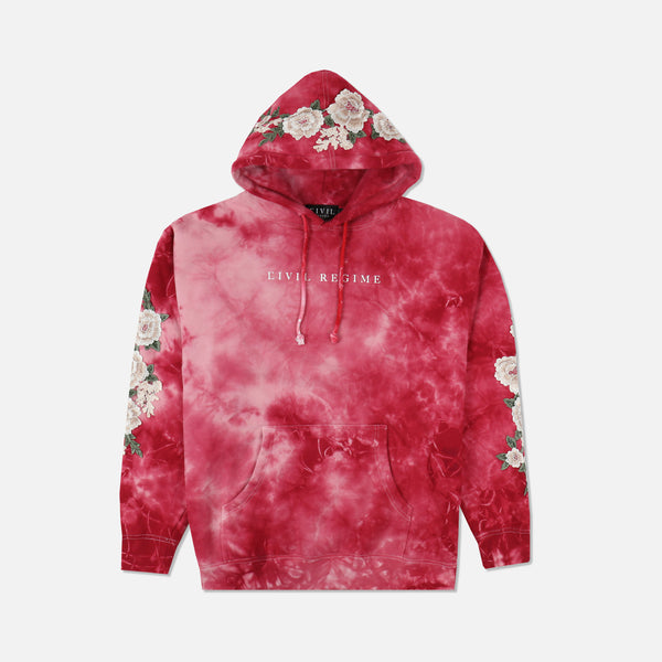 Blanco Roses Pullover in Cherry Haze