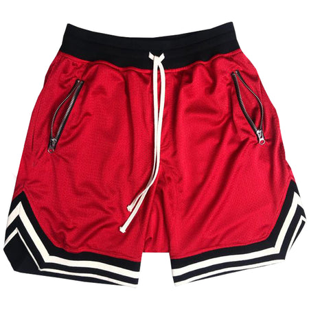 Mesh BBall Shorts in Red