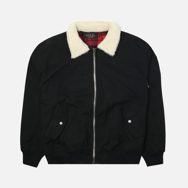 Rolling Madness Bomber Jacket in Black