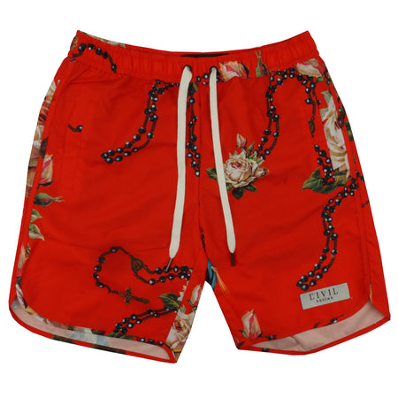Rosary Swim Shorts in Red