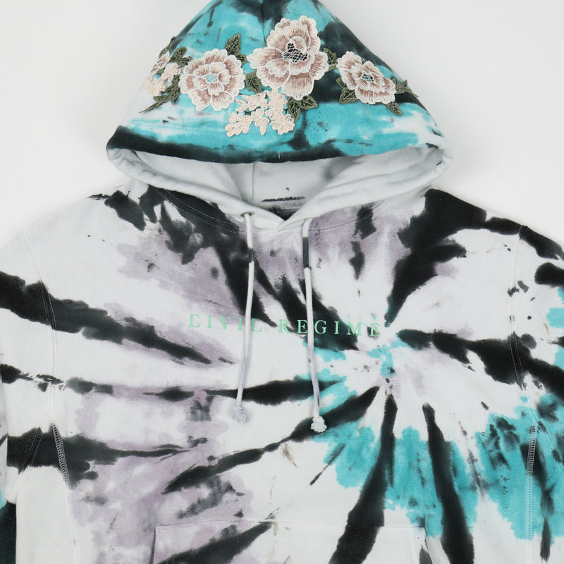 Champion Blanco Roses Hoodie in Gradient Spiral