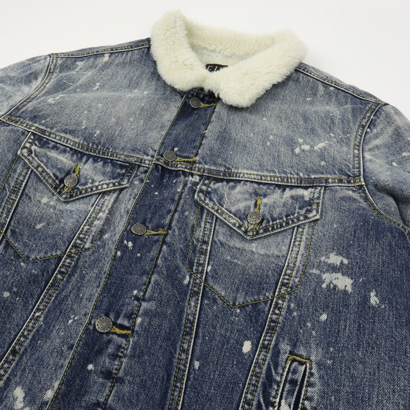 Wasted Denim Jacket in Bleached Indigo
