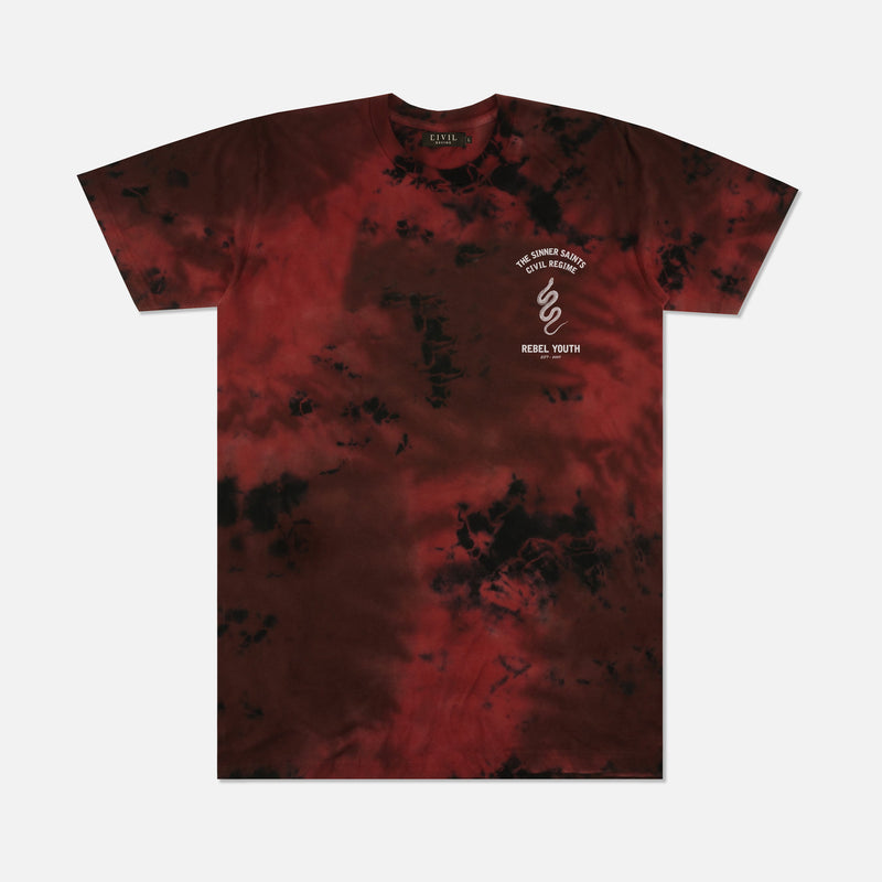 Sinners Division Tee in Lava