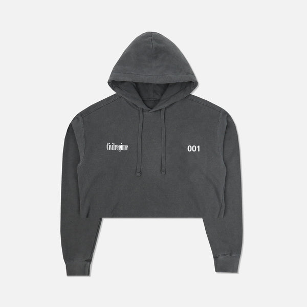 (S.I.N.) Unlocked (Cropped) Hoodie in Pepper