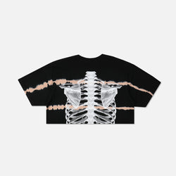 (S.I.N.) Spine (Cropped) Tee in Heartbeat Wash