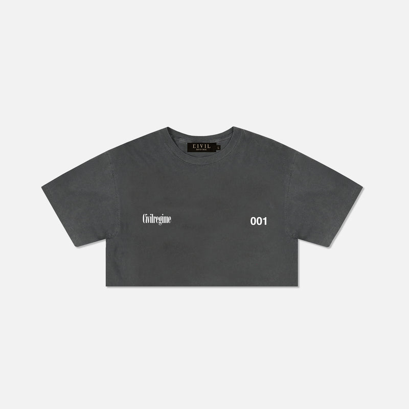 (S.I.N.) Gates (Cropped) Tee in Pepper