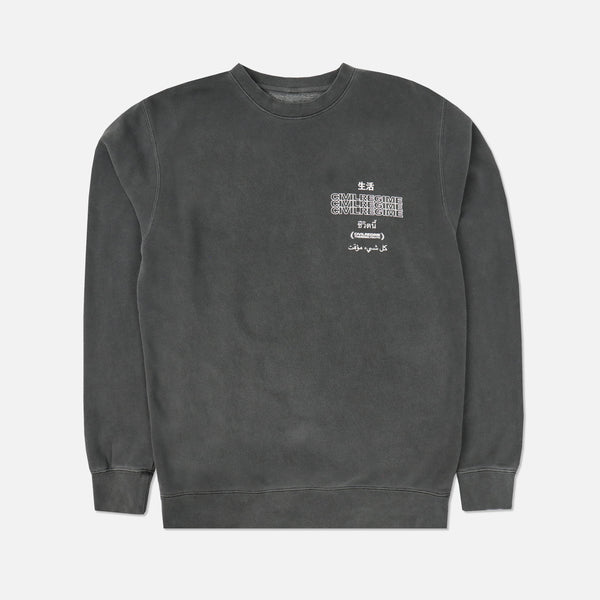 Temporary Crewneck in Pigment Gray