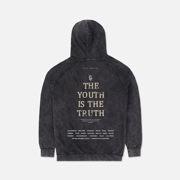 Truth Hoodie in Vintage Black