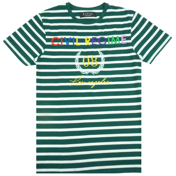 United Colors Embroidered Tee in Green