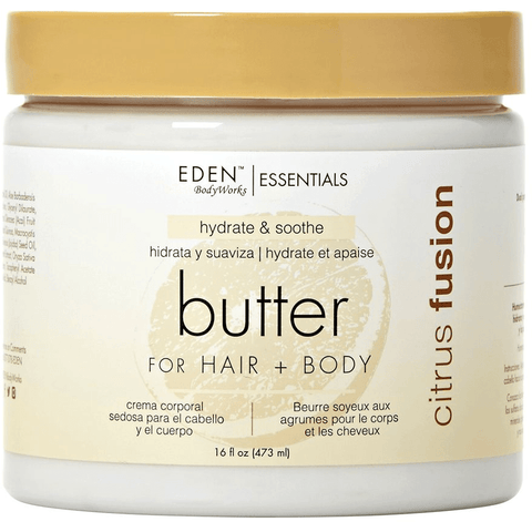 Eden Bodyworks Essentials - Citrus Fusion -  Hair & Body Butter (16 oz.) - Nouri Pa Nati