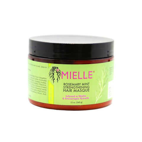 Mielle - Rosemary Mint Strengthening Hair Masque (12 oz.) - Nouri Pa Nati