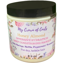 My Crown of Curls - Honey Almond Intensive Hydration Deep Conditioning Masque (8 oz.) - Nouri Pa Nati