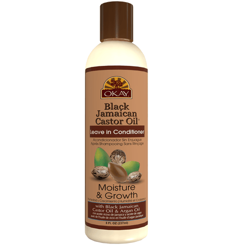 Okay Pure - Black Jamaican Castor Oil Leave In Conditioner (8 oz.) - Nouri Pa Nati