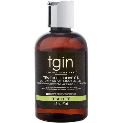 TGIN - Tea Tree & Olive Oil Detoxifying Hair & Scalp Serum (4 oz.) - Nouri Pa Nati