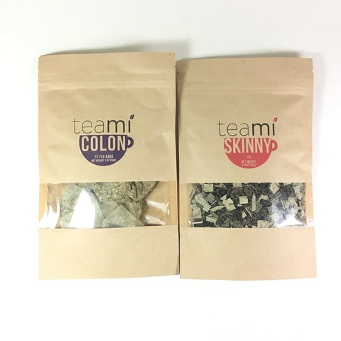 TEAMI Detox Tea Pack: Teami Kit with Skinny and Colon Cleanse Tea Bags