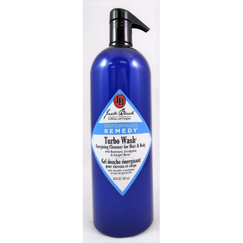 Jack Black Turbo Wash Energizing Cleanser for Hair Body 33oz