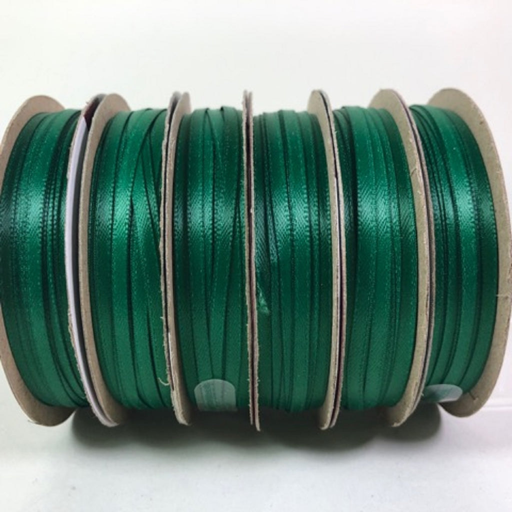 Offray Ribbon Green 30 Feet Craft Ribbon 1/8 Wide 100% Polyester 6 Rolls