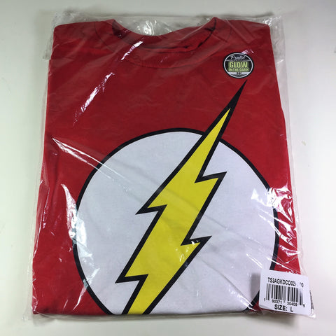 DC Comics Flash Boys Glow Tee Size L