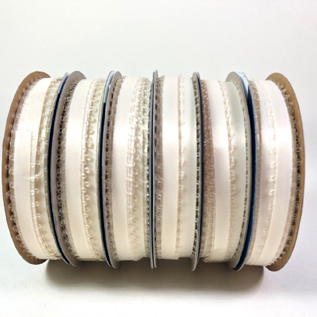 Offray Spool O' Ribbon White 10 Yards 1/4 Wide100% Polyester 6 Rolls