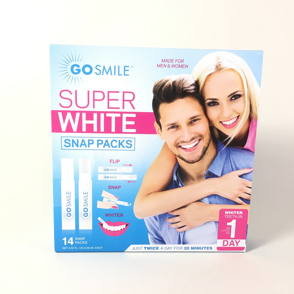 Go Smile Super White Teeth Whitening System Snap Packs 14 Count