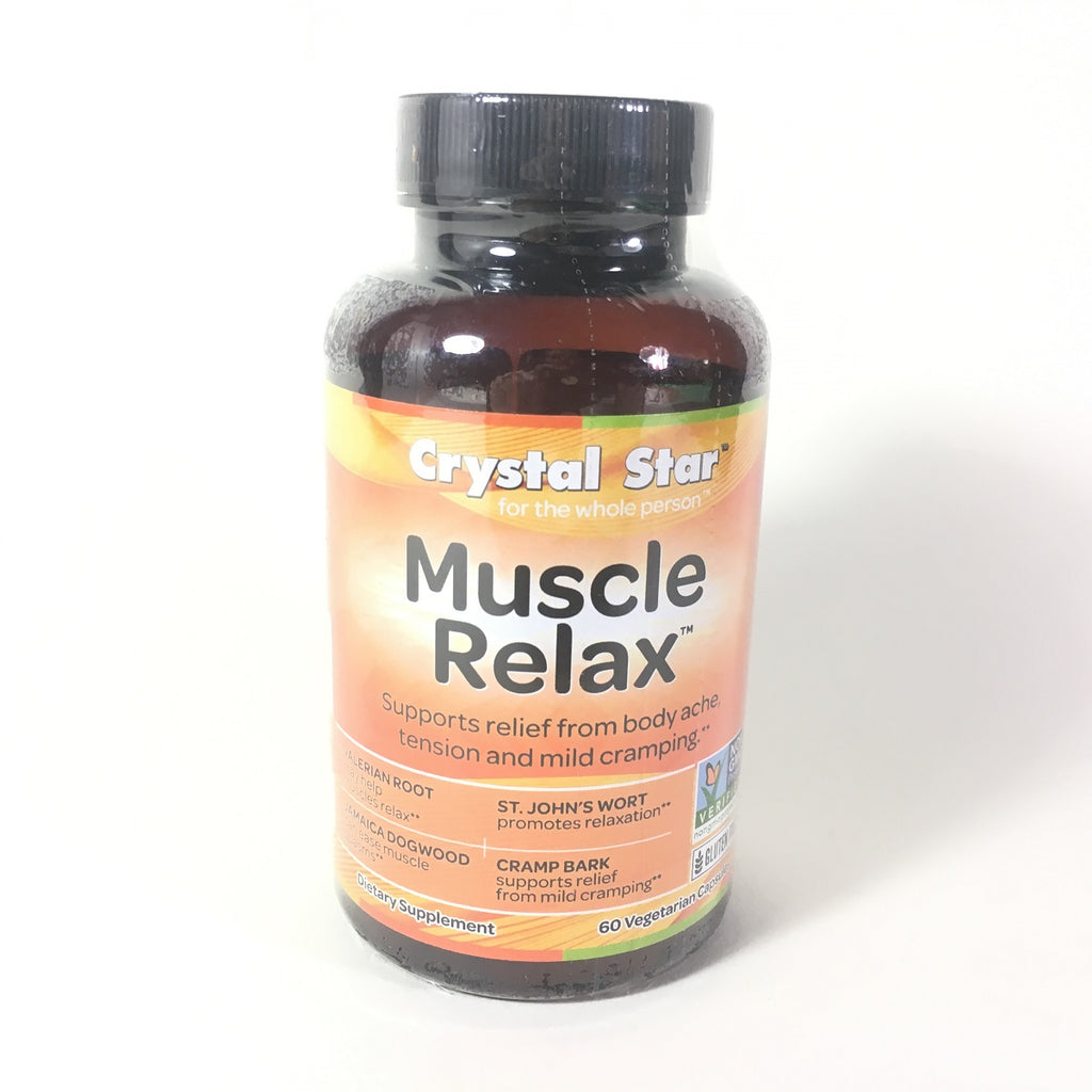 Crystal Star Muscle Relaxer Herbal Supplement 60 Count