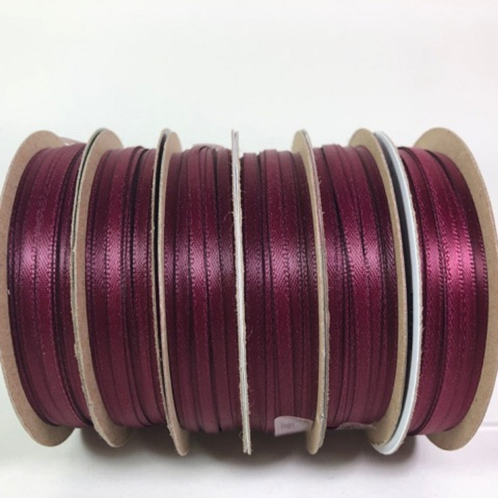 Offray Ribbon Burgundy 30 Feet Craft Ribbon 1/8 Wide 100% Polyester 6 Rolls