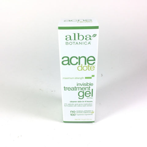 Alba Botanica Invisible Treatment Gel 0.5 oz