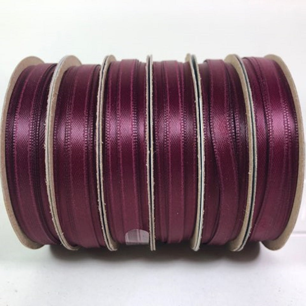 "Holiday Time Walmart Ribbon Burgundy 30 Feet Craft Ribbon 1/4"" Wide 100% Polyester 6 Rolls"