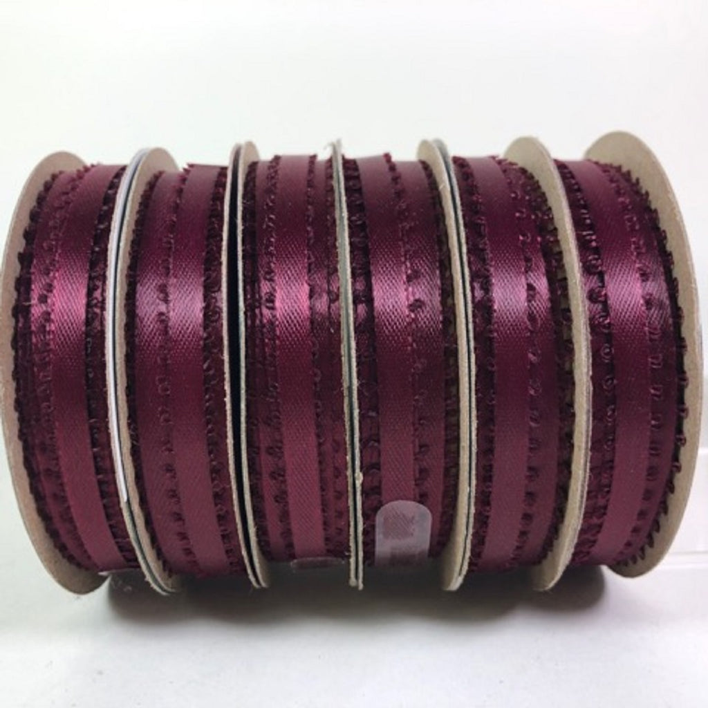 Offray Ribbon Burgundy 18 feet Craft Ribbon 3/16 wide 100% Polyester 6 Rolls