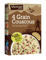 4 grain couscous, wholegrain, wheat, low fat breakfast, grains