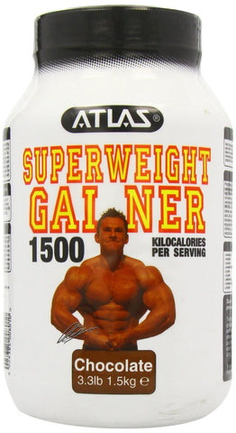 Nutrisport Atlas Weight Gainer 1500 - 1.5kg. Chocolate Flavour - Green Food Direct