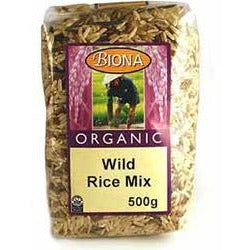 Wild Rice Mix (Wild, Red and brown Rice) Organic 500g - Green Food Direct