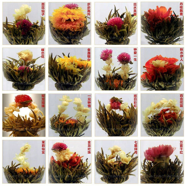 Blooming tea Artistic Blossom Flower Tea,  Individual Vacuum package 16 pieces (100g) - Green Food Direct