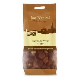 Hazelnuts Whole 500g, 250g - Green Food Direct