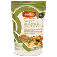 flaxseeds, sunflower, pumpkin seeds, organic, milled