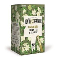 Organic Green Tea & Jasmine 20 Enveloped Bags (30g) - Green Food Direct
