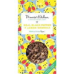 Goji, Black Pepper & Lemon Granola 400 g - Green Food Direct