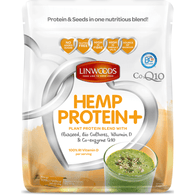 Organic Hemp Protein with Co-enzyme Q10, Vitamin D and Biocultures 360g - Green Food Direct