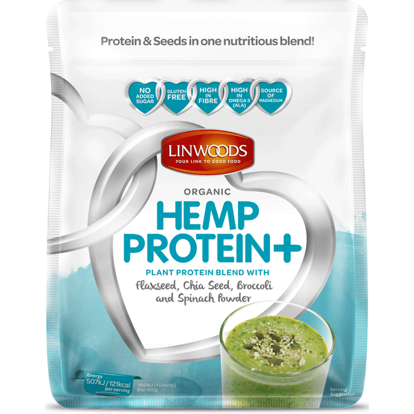 Organic Hemp Protein with Flaxseed, Chia Seed, Broccoli & Spinach 360g - Green Food Direct