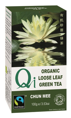 Organic Fairtrade Loose-leaf Chun Mee Tea - 100g - Green Food Direct