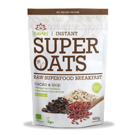 Super Oats - Cacao & Goji, 100% Organic, 400g - Green Food Direct