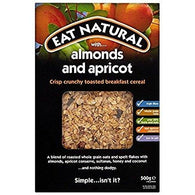 apricot and almonds,  nuts and frutit, cereals